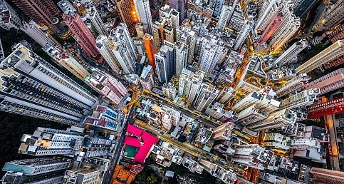 Hong Kong'dan kuşbakışı çekilen ilginç fotoğraflar