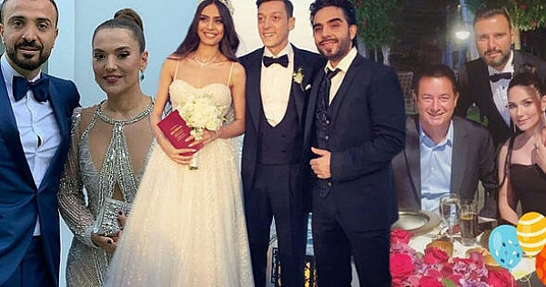 Amine ile Mesut'un düğününe ünlü akını