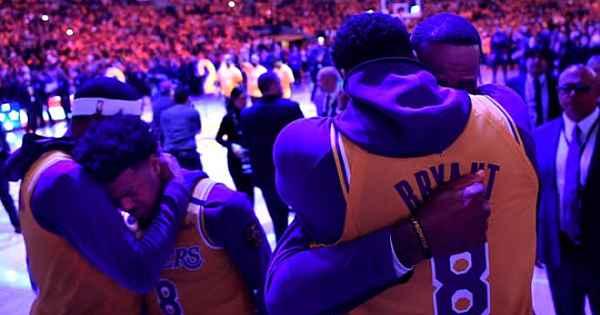 Kobe Bryant'a Lakers maçında tüyleri diken diken eden veda