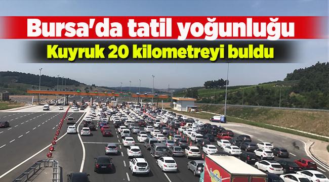 Bursa'da tatil yoğunluğu   Bursa haberleri
