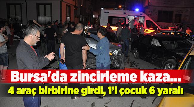 Bursa'da zincirleme kaza: 6 yaralı   Bursa haberleri