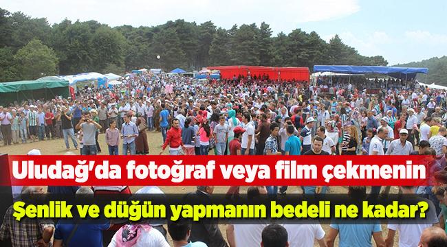 Uludağ'da fotoğraf, film çekmenin, şenlik ve düğün yapmanın bedeli ne kadar?   Bursa haberleri