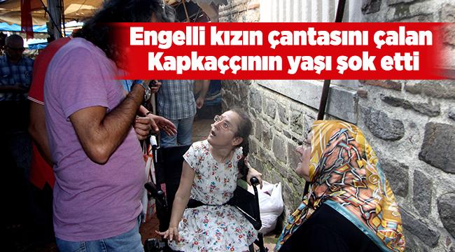 Engelli kızın çantasını çalan kapkaççının yaşı şok etti | Bursa haberleri