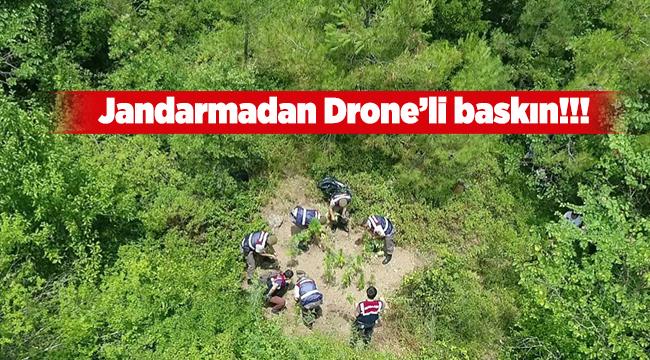 Jandarma'dan drone'lu baskın | Bursa haberleri