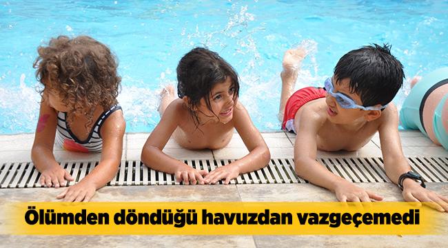 Ölümden döndüğü havuzdan vazgeçemedi | Bursa haberleri