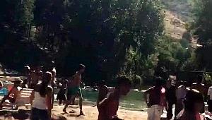 PKK ateş açtı, plajdaki Tunceliler kaçıştı