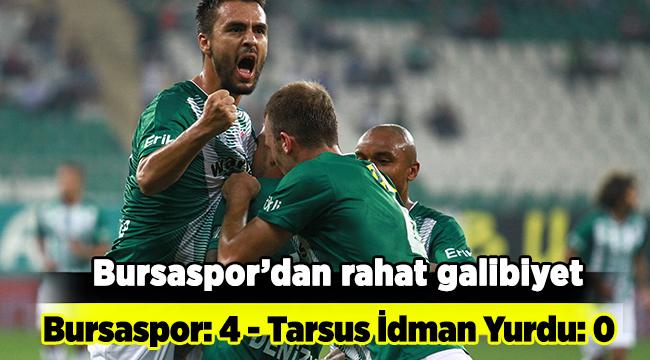 Bursaspor'dan rahat galibiyet