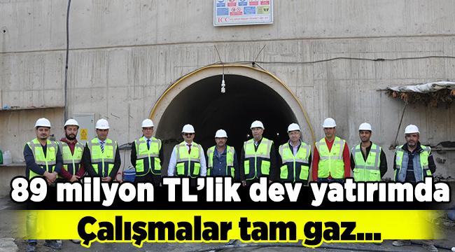 89 milyon TL'lik yatırımda çalışmalar tam gaz