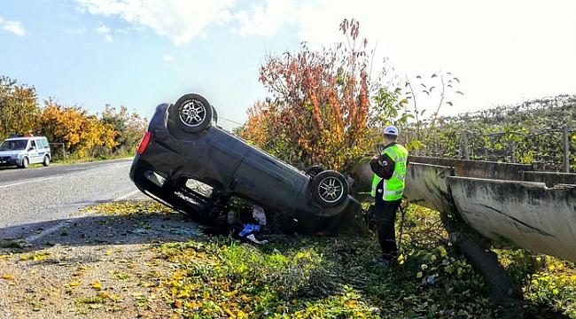 Bursa'da araç takla attı - Bursa Haberleri