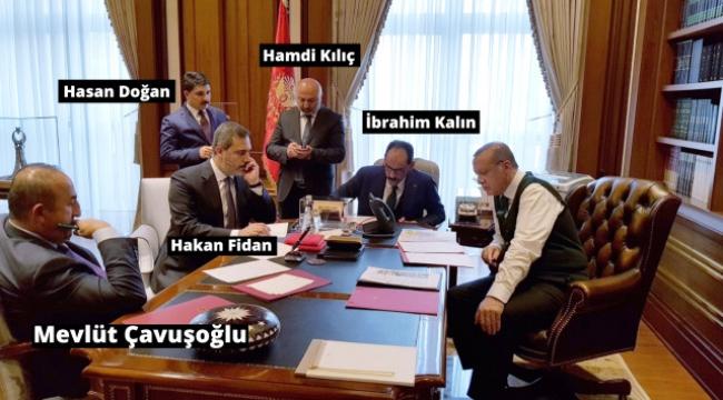 Erdoğan-Trump görüşmesinden paylaşılan fotoğraf dikkat çekti