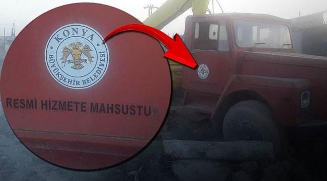 Konya Büyükşehir Belediyesi o araçla ilgili açıklamada bulundu