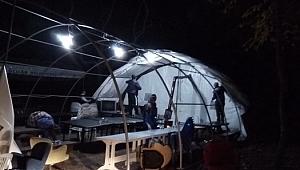 Ormanın içinde çadır açıp kumarhane kurmuşlar
