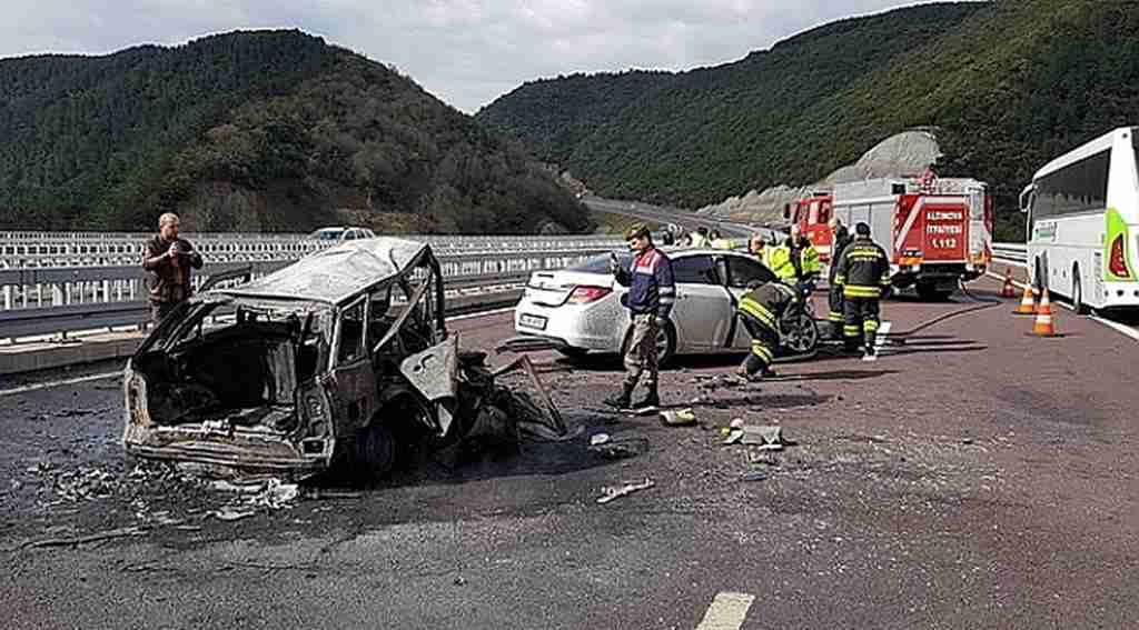 2 kişinin yanarak öldüğü kazanın görüntüleri ortaya çıktı - Bursa Haberleri