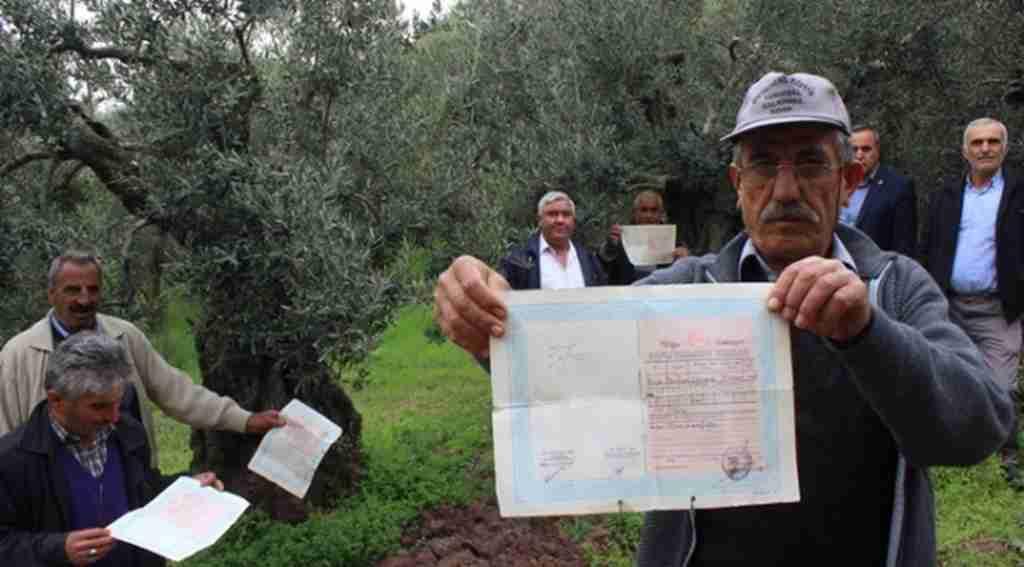 Arazilerini ormana kaptıran köylülerden tapulu eylem - Bursa Haberleri