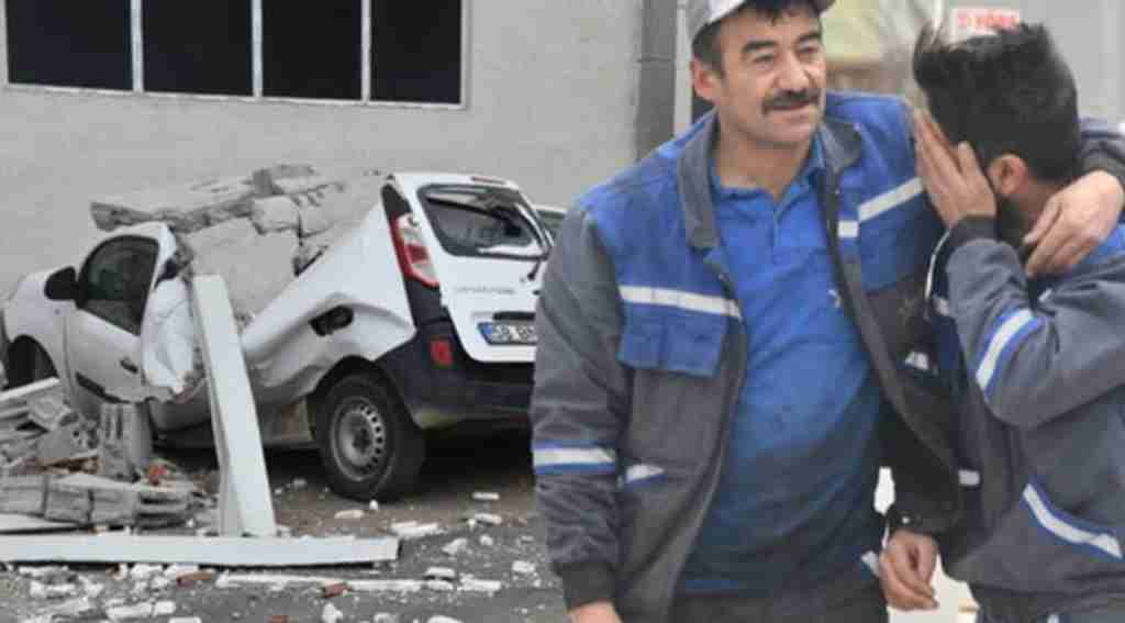 Fırtına duvarı yıktı, aracını parçalanmış bulan işçi kahroldu