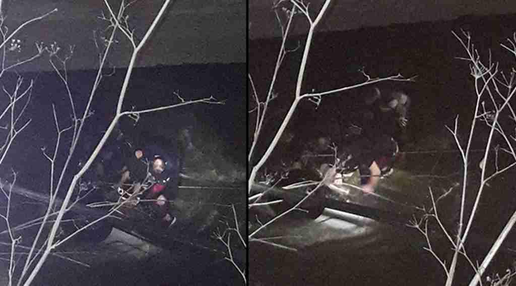 Polis ekip otosu dereye uçtu, 1 şehit, 1 kayıp