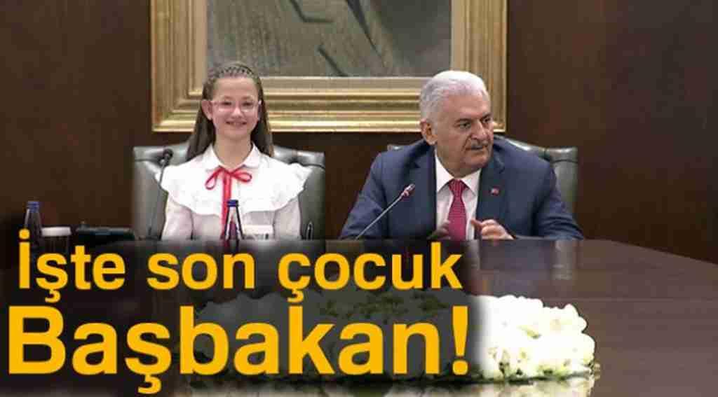 23 Nisan'da başbakanlık koltuğuna oturan son çocuk