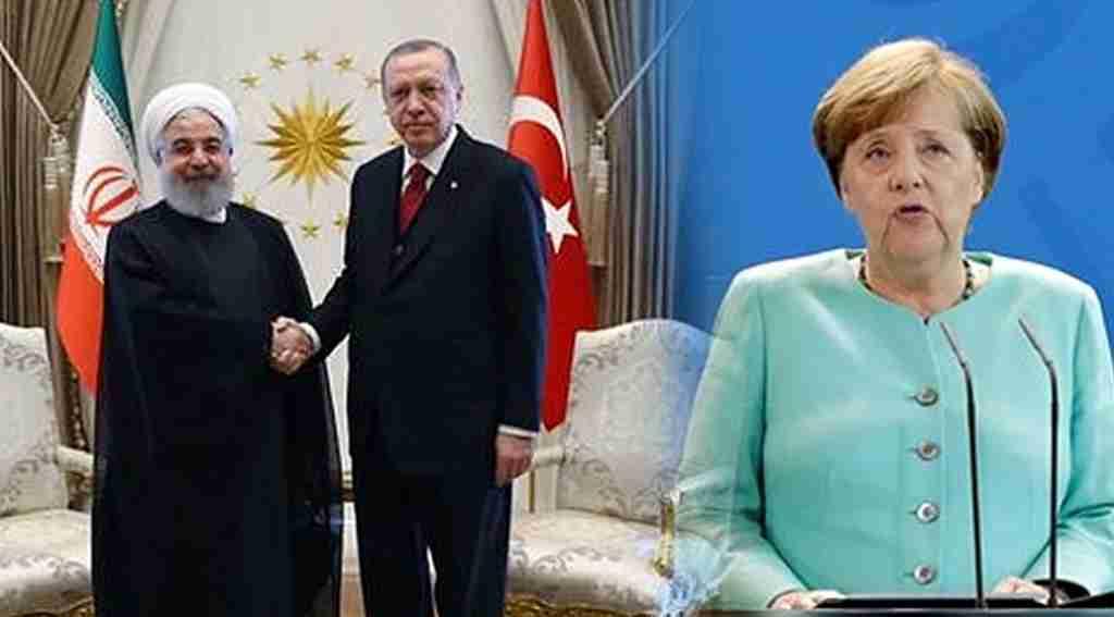 Cumhurbaşkanı Erdoğan, Merkel, Putin ve Ruhani ile Filistin için görüştü