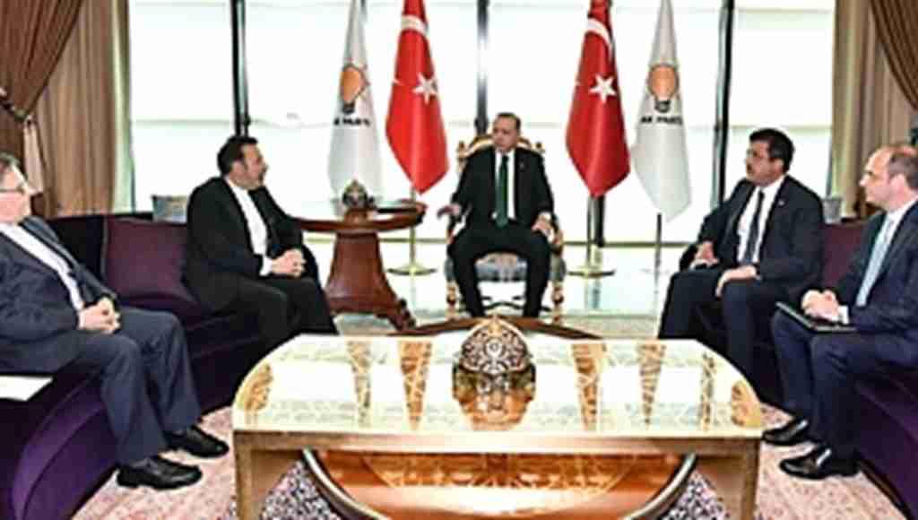 Erdoğan'ın İran heyetiyle toplantısına, Merkez Bankası Başkanı da katıldı