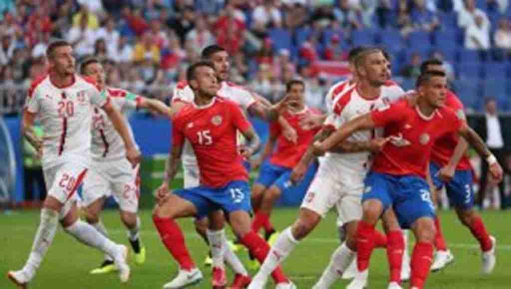 2018 Dünya Kupasında maç sonu: Kosta Rika: 0 - Sırbistan: 1