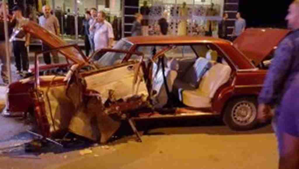 Feci trafik kazasını vatandaşlar deprem zannetti!