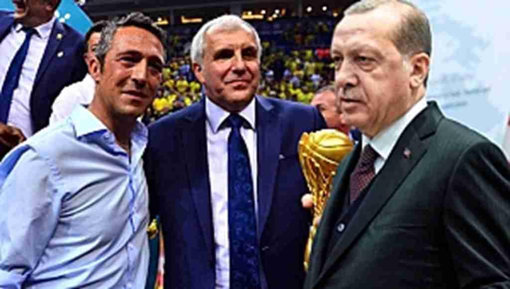 Erdoğan, Fenerbahçe Doğuş'un şampiyonluğu sonrası Ali Koç'u kutladı