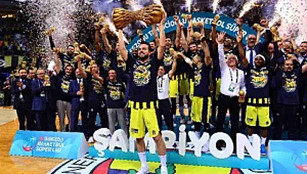 Finalde TOFAŞ'ı yenen Fenerbahçe Doğuş, şampiyon oldu