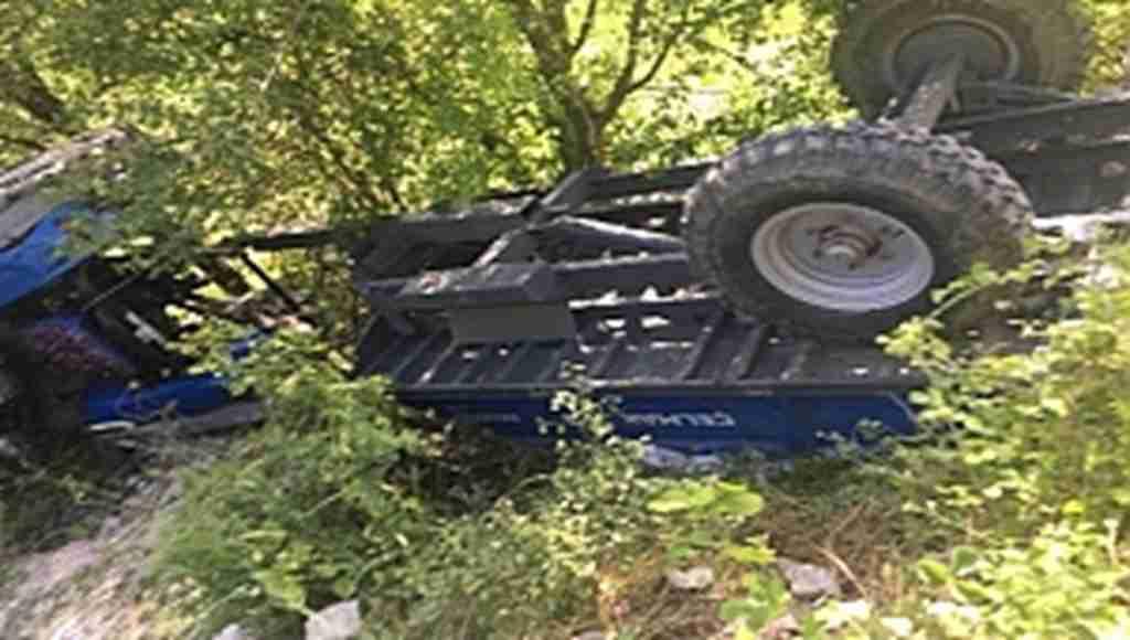 Kontrolden çıkan traktör takla attı: 1 ölü, 3 yaralı - Bursa Haberleri