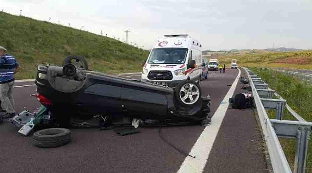 TIR'a çarpan otomobilin sürücüsü ağır yaralandı - Bursa Haberleri
