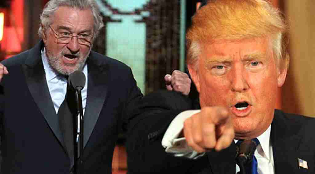 Trump, kendisine küfreden de Niro'ya,