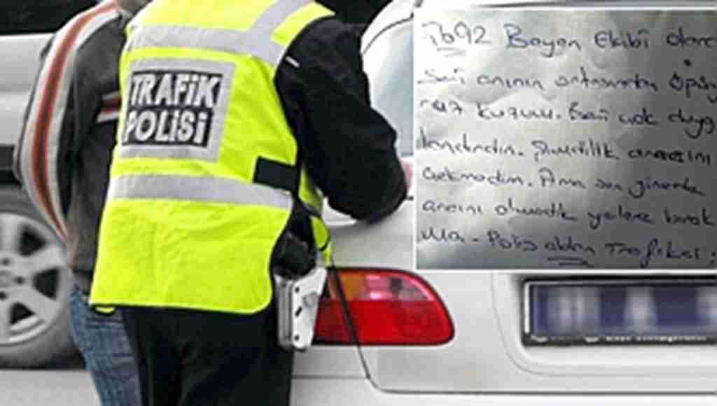 Yanlış park yüzünden kaldırılmak üzereyken otomobilde yazılı olan not sosyal medyada gündem oldu!