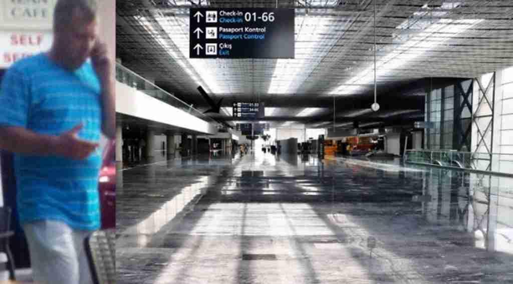 Havalimanında korkunç olay