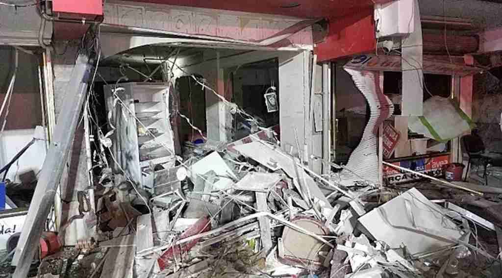 Ortalığı savaş alanına çeviren şiddetli patlamada faciadan dönüldü!