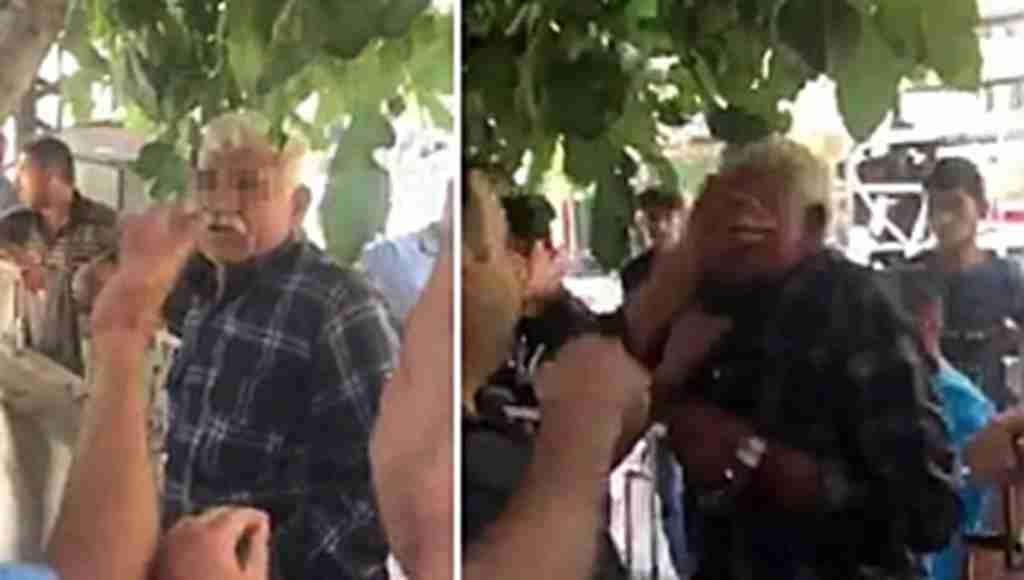 Sapık olduğu ileri sürülen yaşlı adamı mahalleli dövdü