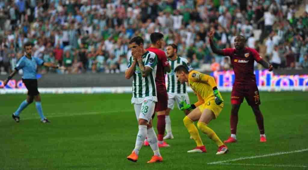 Bursaspor sahasında Kayserspor ile 0-0 berabere kaldı - Bursa Haberleri