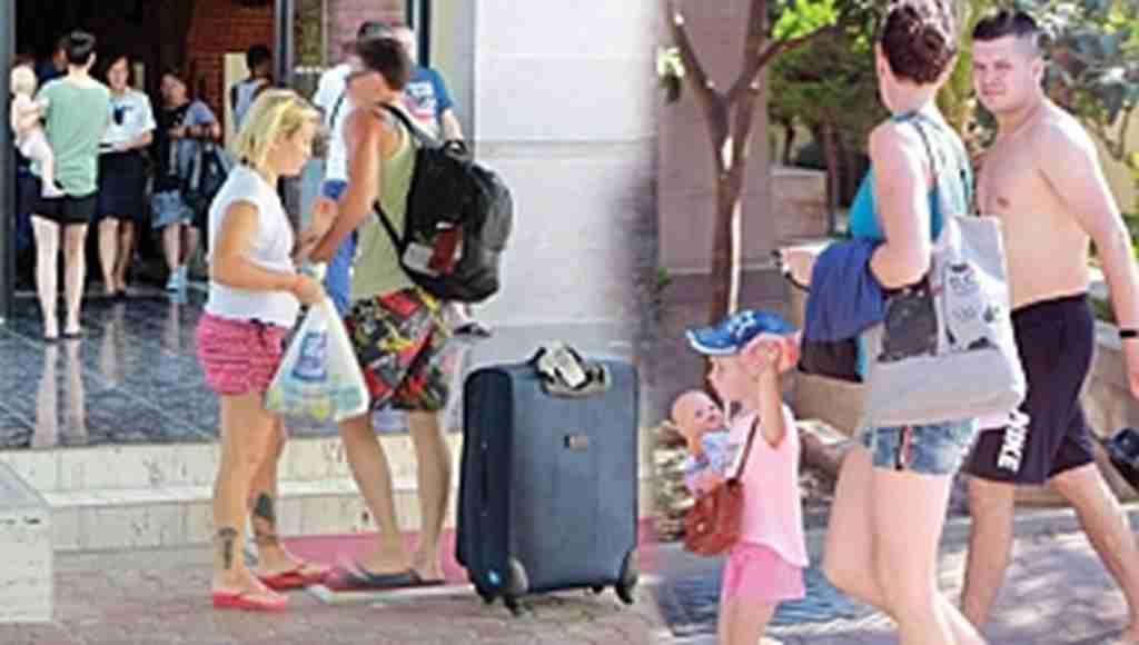 Müşteri dolu otele icra geldi, Tatilciler varken malzemelere el konuldu