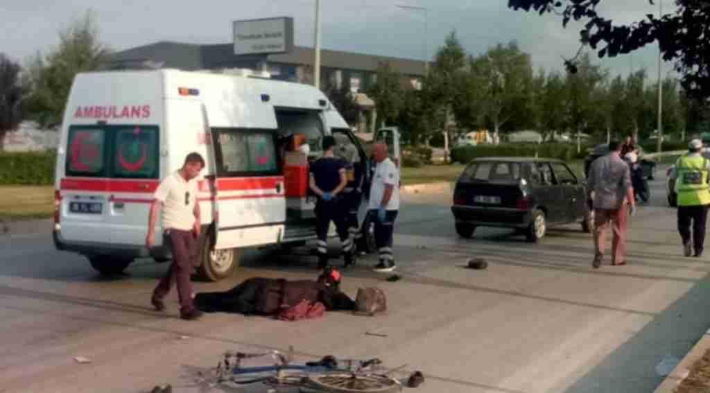 Otomobilin çarptığı bisiklet sürücüsü öldü - Bursa Haberleri