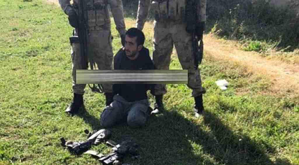 PKK'lı terörist ağaçta saklanırken yakalandı