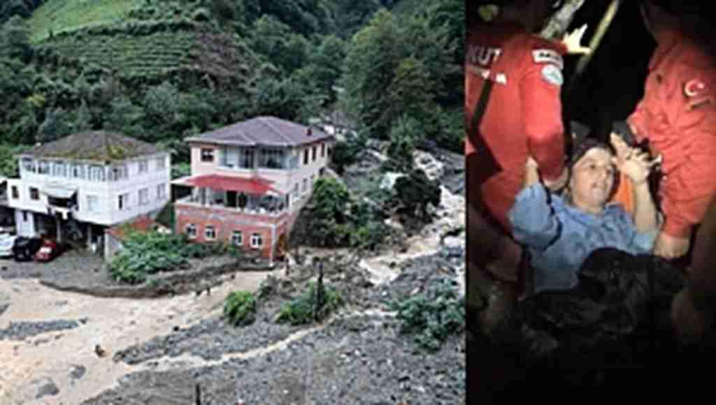Sel bu kez Rize'yi vurdu, turistik tesislerde hasar var