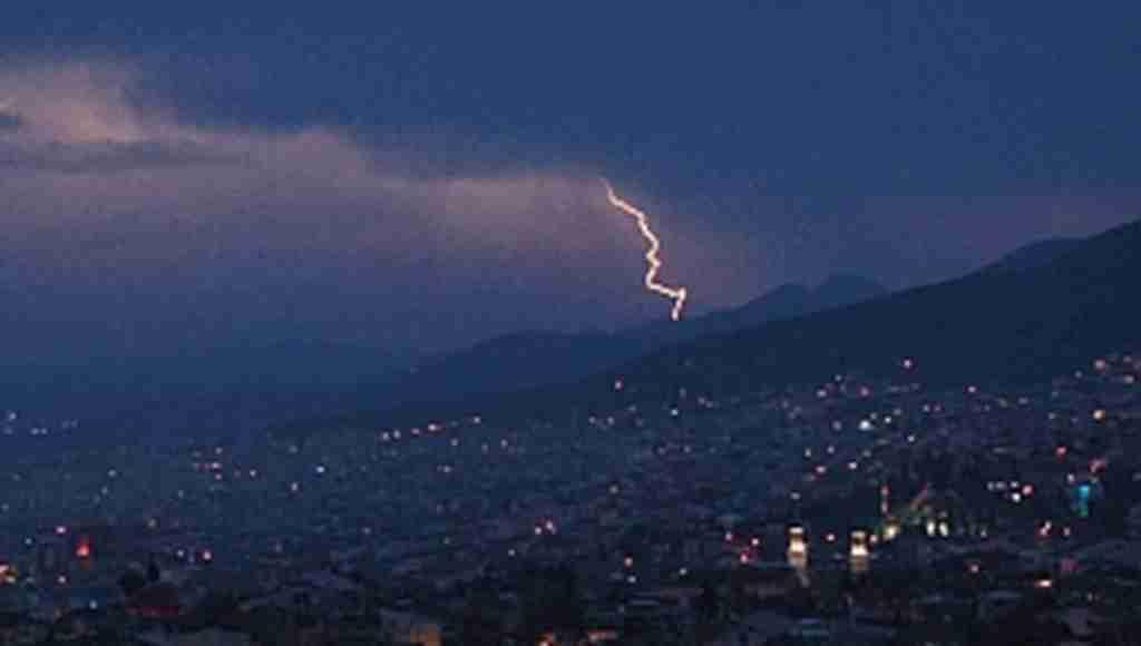 Bursa'da gökyüzünü şimşekler aydınlattı - Bursa Haberleri
