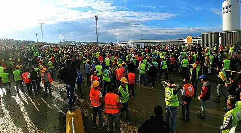 Üçüncü Havalimanı'nda eylem yapan işçiler, istediklerini aldı