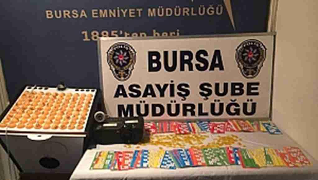 Bursa'da 20 bin liralık kumar operasyonu - Bursa Haberleri