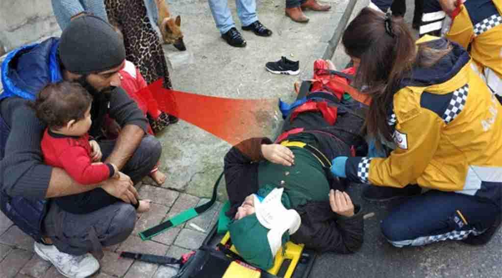 Kocasından şiddet gördü, kurtulmak için pencereden atladı