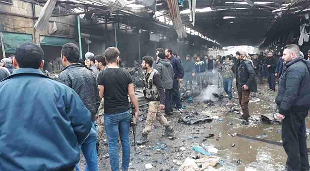 PKK-YPG teröristlerden pazar yerine bombalı saldırı, çok sayıda ölü vere yaralı var!