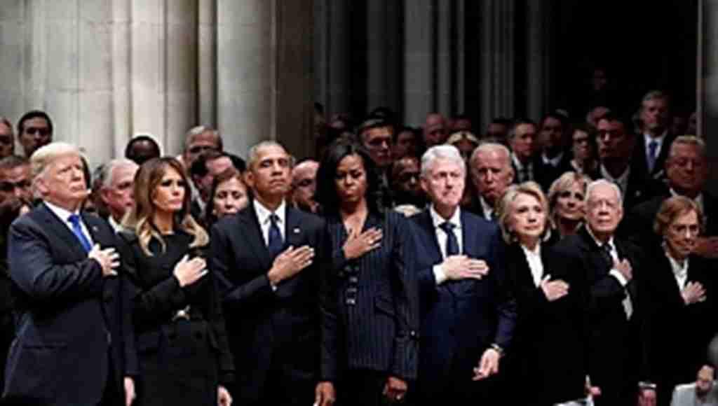 Amerika, baba Bush'u yolcu etti