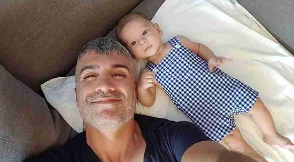 Özcan Deniz'in oğlu Kuzey ile 9'uncu ay pozu!