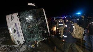 Amasya'da ki otobüs kazasında yaralı sayısı 35 yükseldi