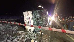 Amasya'da trafik kazası! Otobüs devrildi: 2 kişi hayatını kaybetti, 15 yaralı
