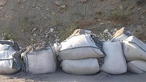 Bir şehri tedirgin eden çuvallardan tonlarca bırakıldı