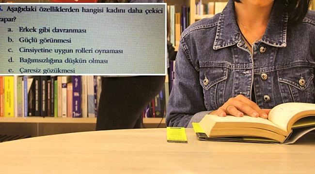 Ders kitabında yer alan sorular tepki çekti